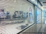 Puerta transparente accionada eléctricamente de Shuters del rodillo del policarbonato