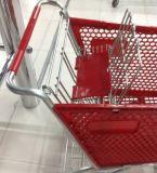120L Supermarket Rolling Shopping Panier en plastique Chariots à roulettes
