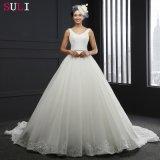 Vestido de casamento Backless do laço da V-Garganta (SL-3012)