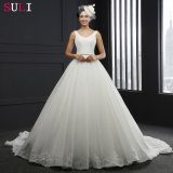Платье венчания шнурка V-Шеи Backless (SL-3012)
