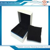 Sola caja de presentación promocional de papel del reloj con la pieza inserta del terciopelo