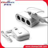 Accenditore elettronico della sigaretta dell'automobile delle 3 degli zoccoli 2 del USB porte di potere del divisore automatico del caricatore