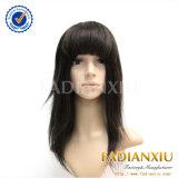 Ligne naturelle perruques européennes de cheveux de cheveux de taille différente de capuchon