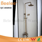 Copper antico Shower Set 3 Functions Dule Ceramic Handle Bathroom Rainfall Shower Faucet con Divertor