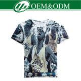 Camiseta del llano de la impresión de Subliamtion del poliester