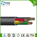 Cable profundo sumergible forrado caucho redondo de la bomba bien
