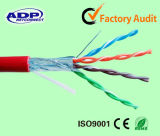Longitud OEM 24AWG UTP / FTP Cat5e cable de conexión Cable de red 8p8c RJ45