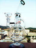 Nuovo Arrival New Design Bent Neck Recycler Glass Pipe con Wholesale Price