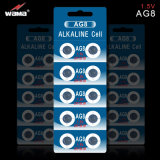 Batteries des cellules Lr1120 AG8 de bouton de montre