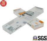 Impresión en offset de empaquetado transparente plástica de Pet/PVC/PP. Rectángulos de empaquetado de Retaile para Cabels