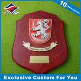 De douane Gegraveerde Trofee van de Plaque van Soild van de Muur Houten