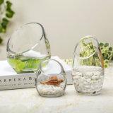 Украшение дома вазы оптовой ясной стеклянной вазы высокорослое