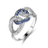 Anel de bronze do AAA CZ dos acessórios da jóia da forma da beleza