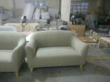 O sofá secional da tela de dois assentos ajustou-se com pés de madeira (FS-007)