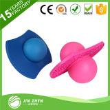 Bola de salto plástica de la bola de Pogo de la bola con insignia modificada para requisitos particulares