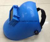 Mascherina blu della saldatura di ultimo disegno del commercio all'ingrosso con il vetro della saldatura, casco registrabile della saldatura del nero di disegno semplice del cablaggio
