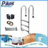 Escada da associação das etapas de etapas 5 de etapas 4 de etapas 3 de aço inoxidável 2 do equipamento da piscina