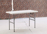 Woonkamer Furniture 4ft HDPE Plastic Folding Half Dinner Table (HK-Z122)