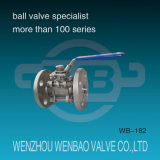 3-Piece CF8m Flanged Ball Valve con Manual Handle