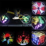 Modelos de Yq8003 128 LED que cambian el montar a caballo de la noche de la luz del rayo de la rueda de la bici