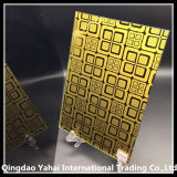 Concise Style를 가진 4mm Golden Yellow Decorative Glass