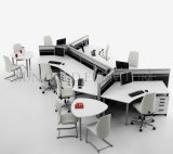 現代別の形のキュービクルの木のヘビのオフィスによって曲げられるワークステーション(SZ-WS342)