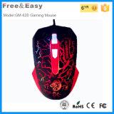 Mouse ottico ergonomico elegante ed attraente di gioco 6D