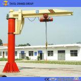 360 graus Free Standing Jib Crane com Electric Wire Rope Hoist