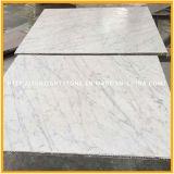 Het opgepoetste Witte Marmer van Bianco Carrara voor de Tegel van de Vloer van de Badkamers & van de Keuken