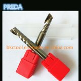 CNC Polished Single Flute End Mills para alumínio HRC 50