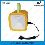 Lanterna de rádio de acampamento recarregável da potência solar com o carregador solar do telefone móvel