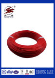 Fil électrique de cuivre enduit de boîtier de PVC avec couleur jaune/rouge