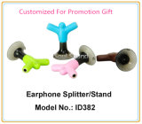 Подгонянные подарки промотирования цвета логоса для стойки телефона Splitter наушника (ID382)