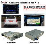 Surface adjacente visuelle de système de navigation pour Cadillac Srx, Xts, navigation de contact de mise à niveau d'ATS (SYSTÈME de CARACTÈRE INDICATEUR de véhicule), WiFi, BT, Mirrorlink, HD 1080P, carte de Google, mémoire de jeu