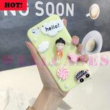 Cas mobile chaud de Sakura Momoko de dessin animé de DIY 3D pour l'iPhone 6/6plus
