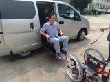 최신 판매 신식 회전대 어린이용 카시트는 밴과 미니밴을%s 휠체어로 전송한다