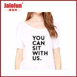 관례 여자를 위한 개인화된 구부려진 단 t-셔츠