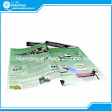 Brochure polychrome d'impression offset de papier enduit