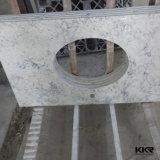 Partie supérieure du comptoir extérieure solide de cuisine de pierre de quartz
