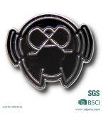 주문을 받아서 만들어진 기념품 사각 사기질 금속 기장 접어젖힌 옷깃 Pin (XDB-07)