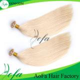 Peruca indiana do cabelo de Remy do cabelo humano louro de seda da fita