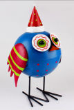 Manufactory Price Colorful Metal Animal Figurine Bird