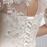 O-Neck ein Line Lace herauf Wedding Dress (SLD001)