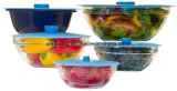 Food Grade Conjunto de 5 Derrame tapón de silicona de aspiración de alimentos Cubiertas para Pan