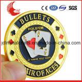 Messingmünze des China-Großhandelsdoppelte seitliche unbelegte Metall3d