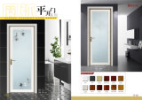 内部のAluminumおよびGlass Side Hung Bathroom Door
