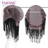 Kinky курчавый парик фронта шнурка человеческих волос Remy