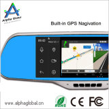 Câmera do espelho de vista traseira com a câmera GPS Android Bluetooth do reverso do carro do indicador 7inch