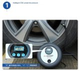 携帯用DIGITAL Display Intelligent Preset Pressure Car Air Compressor 12V Electric Tire Pump 260psi Vehicle Inflater