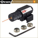 Tactical Mini Airsoft Red DOT Laser Sight para 20-22mm Rail